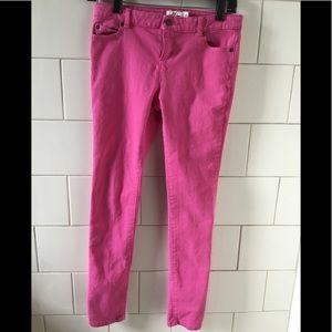 Girls Vineyard Vines Pink Five Pocket Jeans sz 14